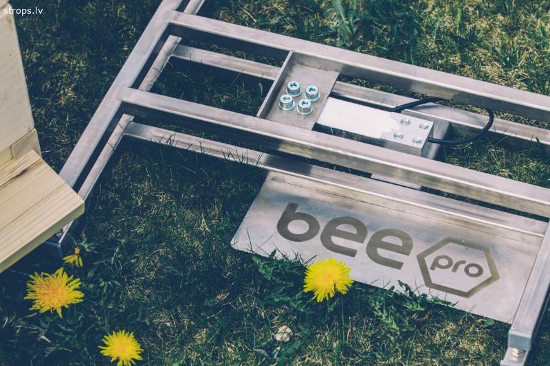 BeePro stropa ienesuma svari ar SIM un WiFi datiem portālā